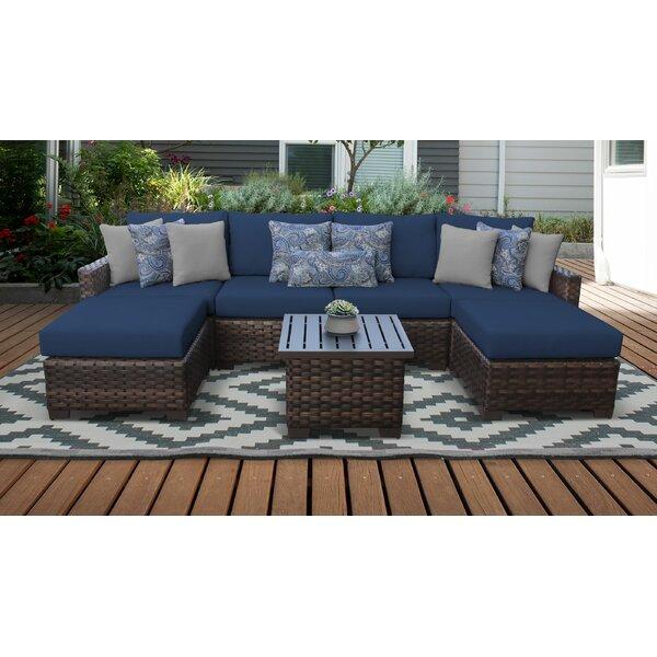 Kathy Ireland Homes Gardens By Tk Classics River Brook 7 Piece Outdoor Wicker Patio Furniture Set 07a Reviews Wayfair