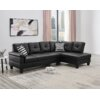 Latitude Run Brooklyn Lee 100 Faux Leather Right Hand Facing Sofa Chaise Reviews Wayfair