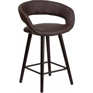 Whelan Rounded Low Back Bar Stool Orren Ellis