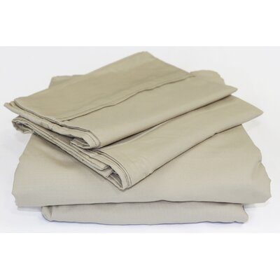 Beacon Linens Safe Haven 4 Piece Sheet Set  Size: Full, Color: Taupe