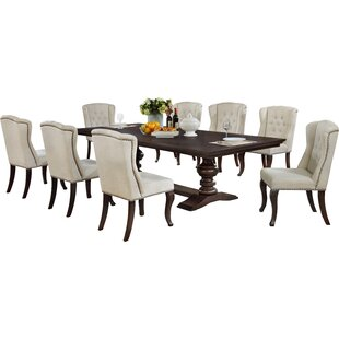 Rolf 9 Piece Extendable Dining Set by Canora Grey Coupon