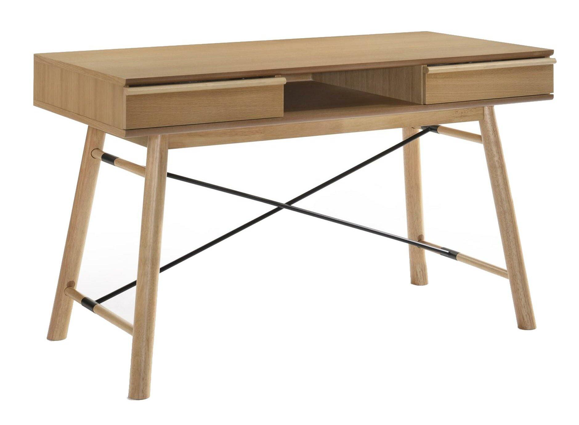 Corrigan Studio Zamudio Solid Wood Writing Desk Wayfair
