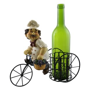 Luann Happy Chef on Bicycle 1 Bottle Tabletop Wine Rack by Wine Bodies
