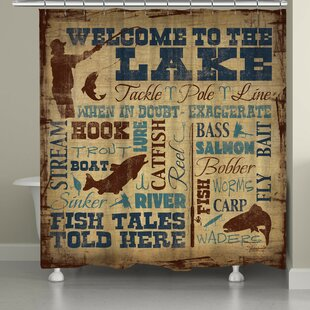 Braylen Welcome to the Lake Single Shower Curtain