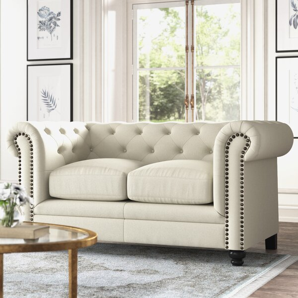 Kelly Clarkson Home Andre Chesterfield 67 Rolled Arm Loveseat Reviews Wayfair