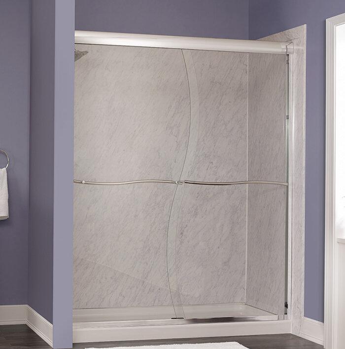 Hazelwood Home Marina 58 X72 Bypass Frameless Shower Door Wayfair