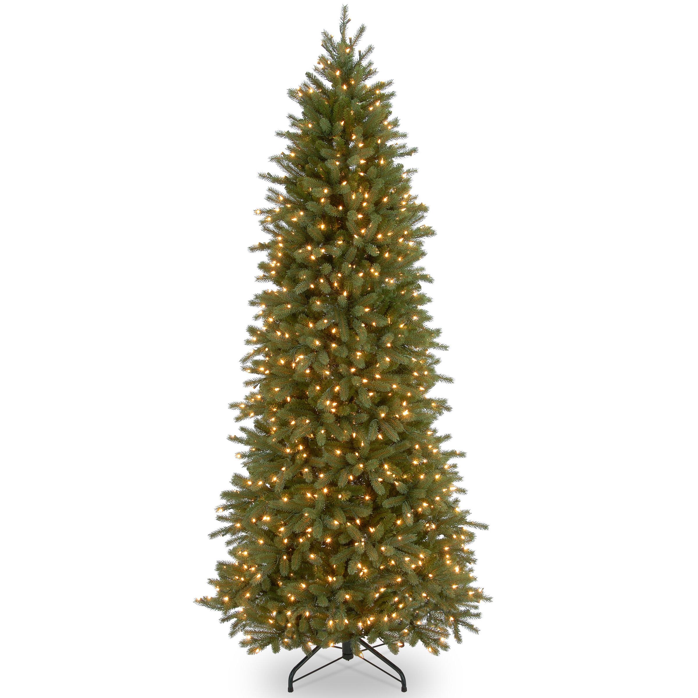 Jersey Fraser Green Fir Artificial Christmas Tree With Clear White Lights Reviews Joss Main