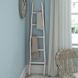 Painted Wood 6 ft Decorative Ladder Beachcrest Home