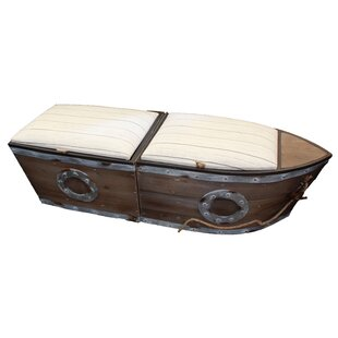 Longshore Tides Bublitz Boat Wood Storage Bench (Set of 2)