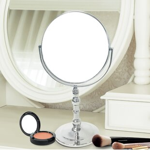 Best Deals Ditto Round Double Sided Magnifying Standing Makeup/Shaving Mirror By Charlton Home