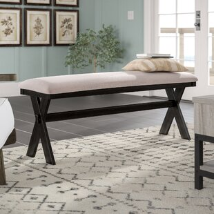 Laurel Foundry Modern Farmhouse Manitou Transitional Wood/Metal Bench