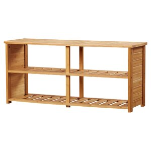 10-Pair Bamboo Shoe Storage Bench
