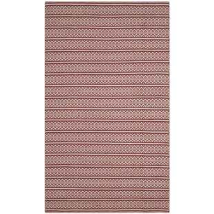 Oxbow Handwoven Cotton Red Area Rug by Laurel Foundry Modern Farmhouse