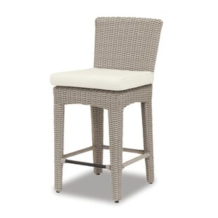 Manhattan 26 Patio Bar Stool with Cushion Sunset West