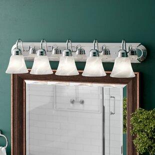 Three Posts Amber Oak 5-Light Vanity Light