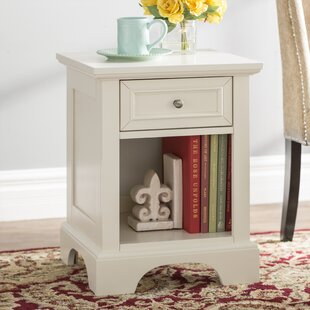 Cusick 1 Drawer Nightstand Three Posts