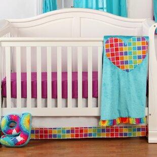 Compare prices Terrific Tie Dye Infant 3 Piece Crib Bedding Set ByOne Grace Place