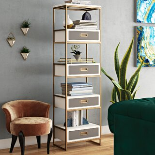 Ariadne Standard Bookcase by Willa Arlo Interiors SKU:AA570953 Check Price