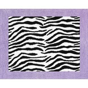 Inexpensive Zebra Floor Purple Area Rug BySweet Jojo Designs