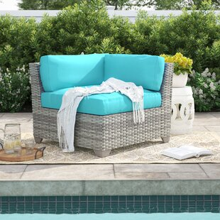 Falmouth Corner Patio Chair with Cushions (Set of 2)