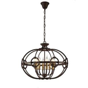 Gracie Oaks Pownall 8-Light Globe Chandel..