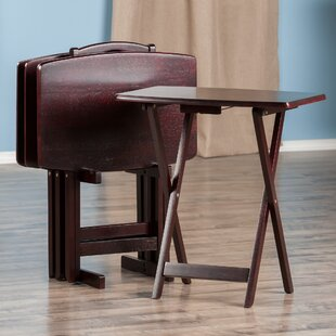 Compare Berke 5 Piece Tray Table Set By Darby Home Co