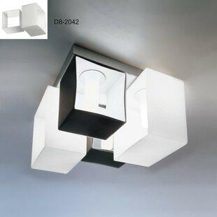 ZANEEN design Domino 4-Light Flush Mount