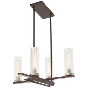 Best Reviews Croxton 4-Light Shaded Chandelier By Williston Forge