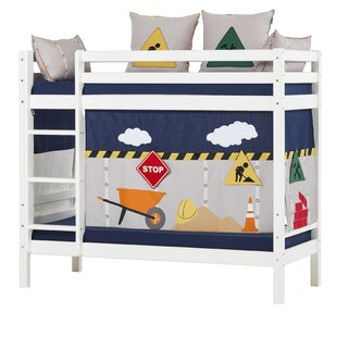 Basic Construction Bunk Bed With Curtain By Hoppekids