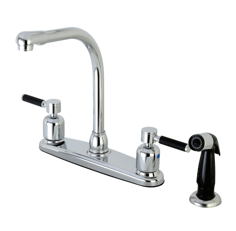 Kingston Brass Kaiser Hot & Cold Water Dispenser Double Handle ...