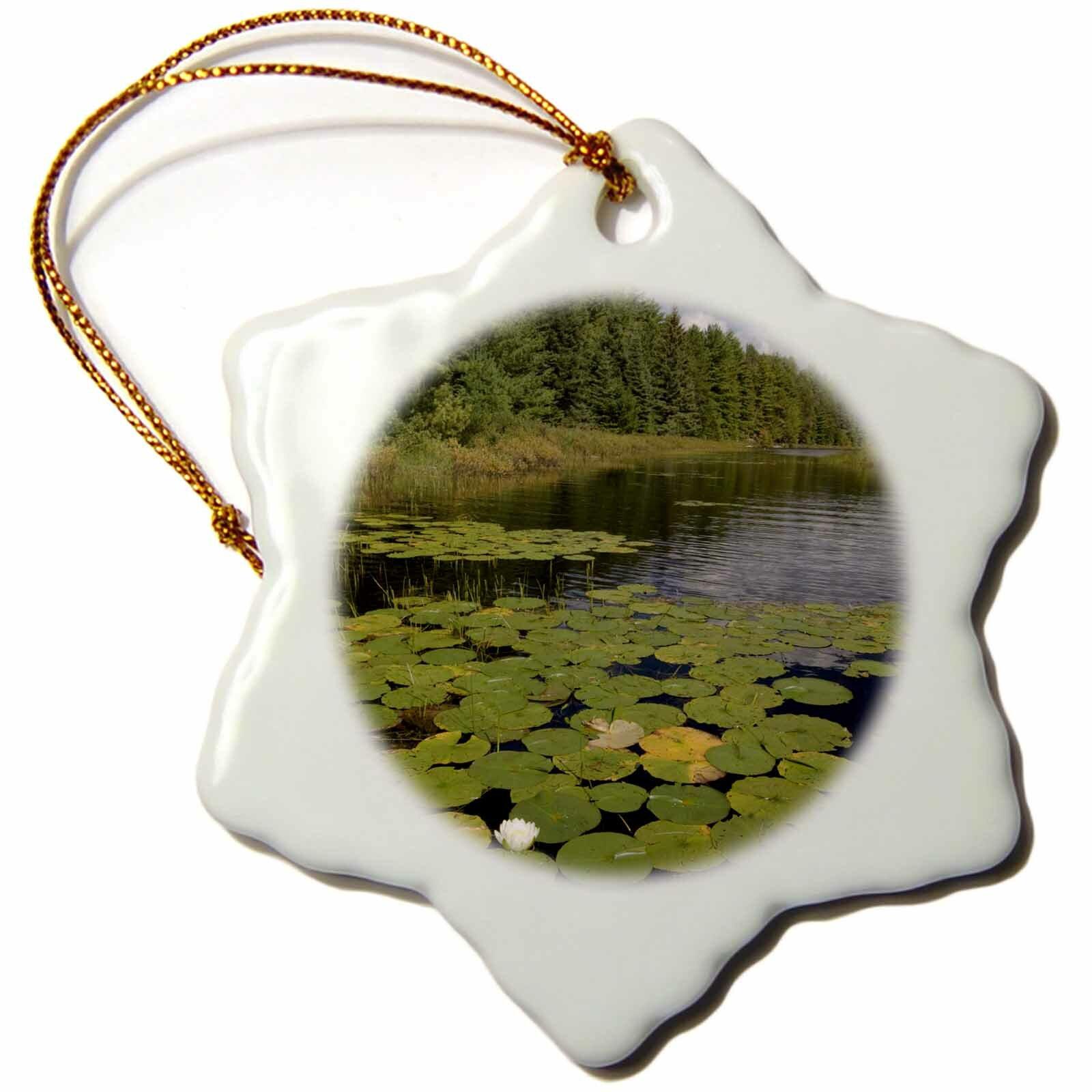 The Holiday Aisle War Club Lake Voyageurs National Park Minnesota Snowflake Holiday Shaped Ornament Wayfair
