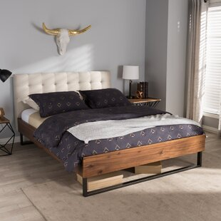 Review Haffey Upholstered Platform Bed