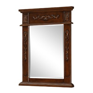 Ambudkar Rectangle Wood Vanity Mirror