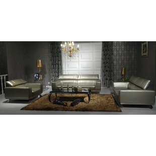 Coalpit Heath 3 Piece Leather Living Room Set By Orren Ellis