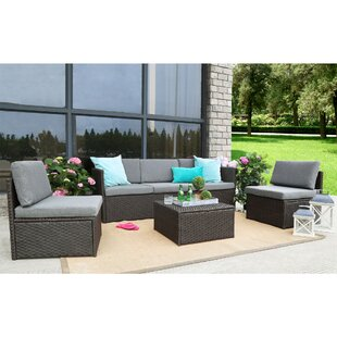 Catharine Outdoor 4 Piece Sofa Seating Group with Cushions