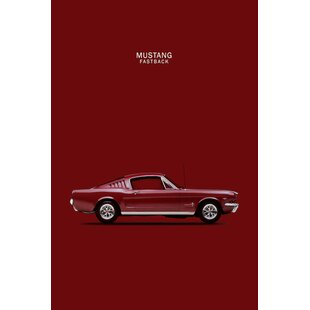 '1965 Ford Mustang Fastback' Graphic Art Print on Canvas By East Urban Home