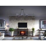 Fontana TV Stand for TVs up to 72 with Electric Fireplace Included by Scott Living