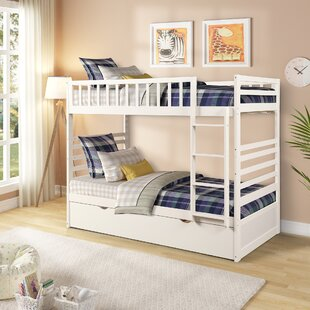 Shailene Twin Bunk Bed with Trundle by Harriet Bee