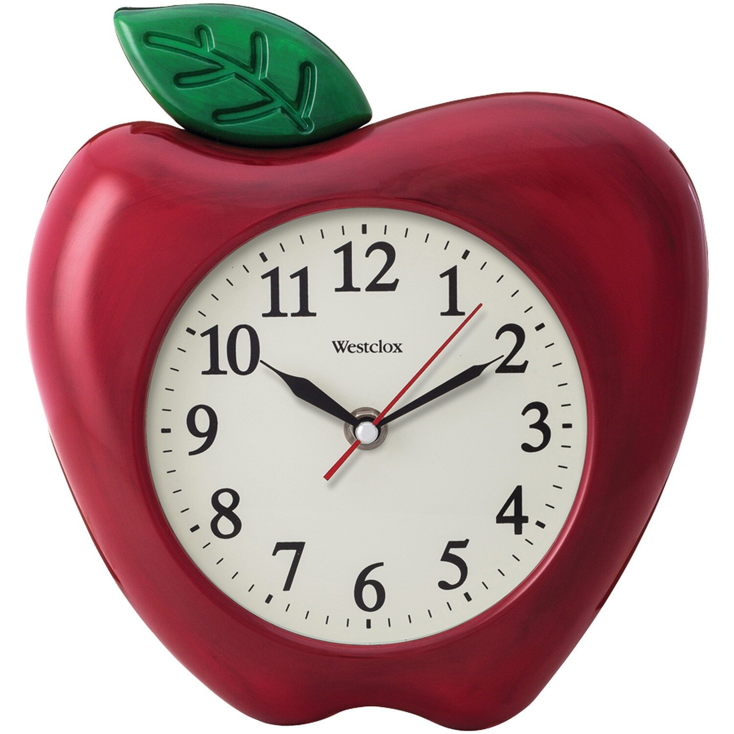 Alcott Hill Sabin 3D Red Apple Wall Clock & Reviews | Wayfair