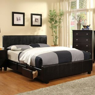 Itzhak Padded Leatherette Upholstered Storage Platform Bed