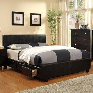 Itzhak Padded Leatherette Upholstered Storage Platform Bed