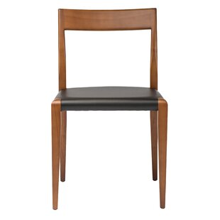 Holsworthy Genuine Leather Upholstered Dining Chair ByCorrigan Studio