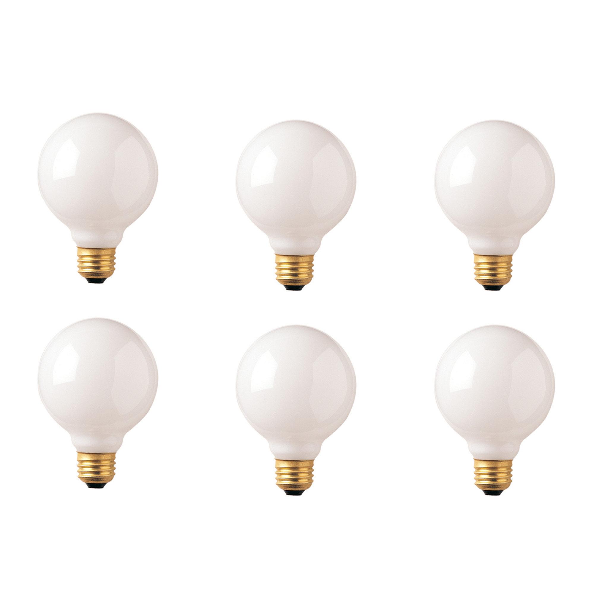 Bulbrite Industries 25 Watt G30 Incandescent Dimmable Light Bulb 2700k E26 Medium Standard Base Reviews Wayfair