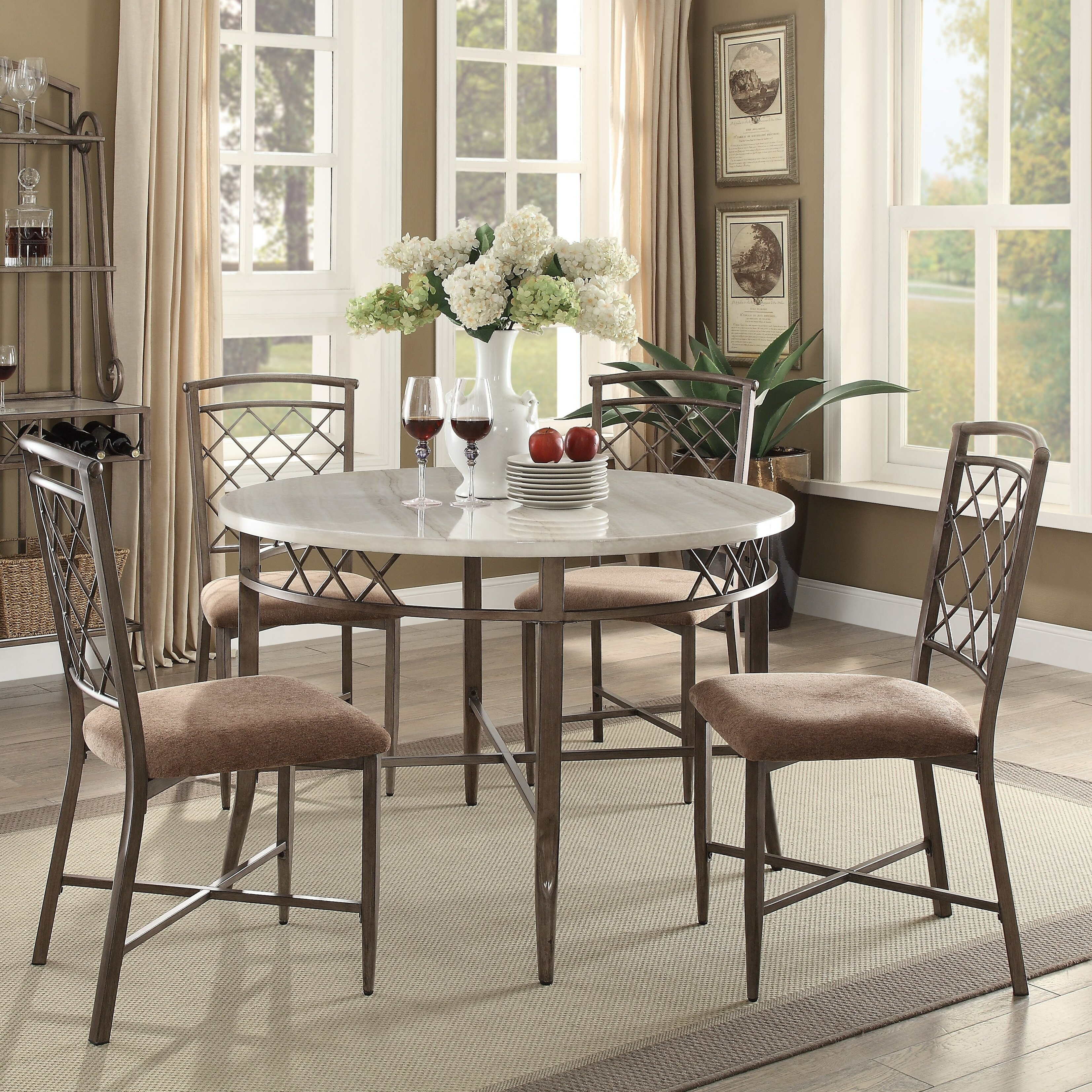 Charlton Home® Bedfordshire 4 - Person Dining Set & Reviews | Wayfair