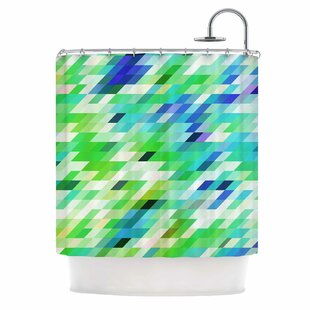 East Urban Home Dawid Roc Colorful Summer Geometric Abstract Shower Curtain