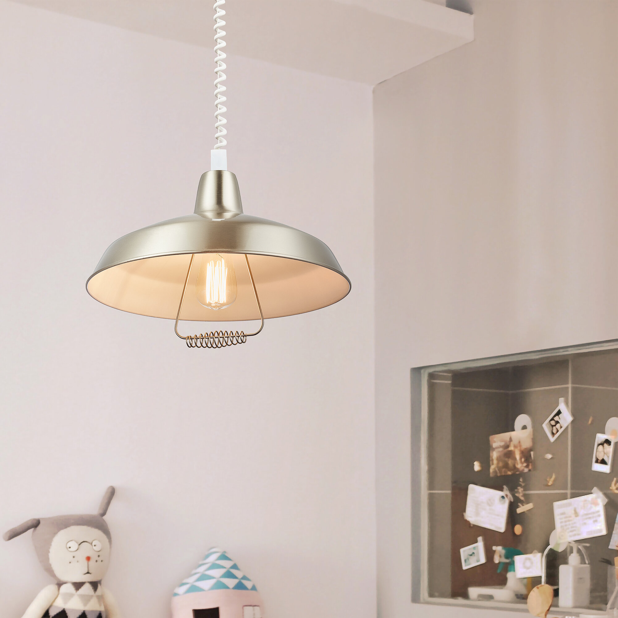 17 Stories Wivenhoe 1 Light Single Bowl Pendant Wayfair