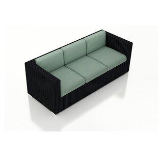Azariah Patio Sofa with Cushions by Orren Ellis