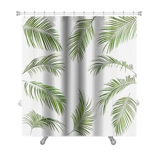 Great Nature Palm Leaves Isolated Premium Shower Curtain