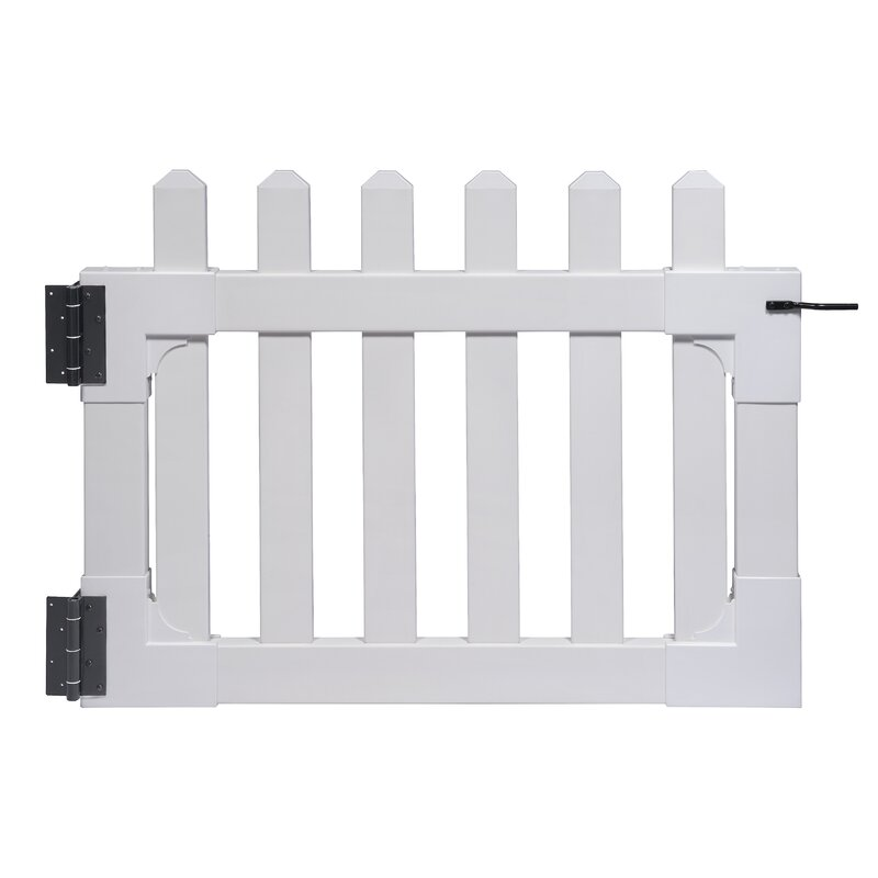 Zippity Outdoor Products Newport 2.5 ft. H x 3.5 ft. W Vinyl Picket Gate