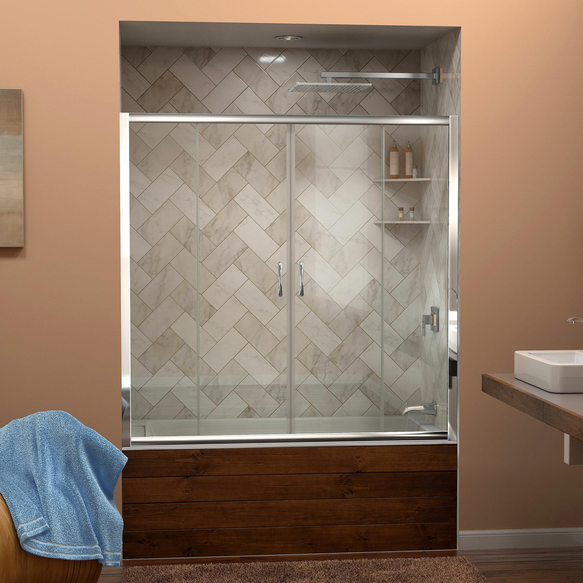 Visions 60 X 58 Double Sliding Frameless Tub Door